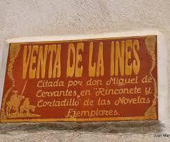 Placa Venta cervantina La Inés